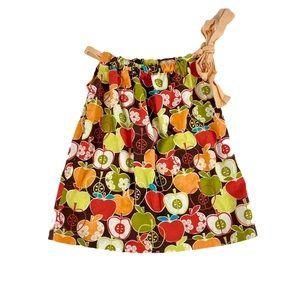 Back to School Apple Print Dress/Tunic Size 4/5